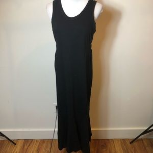 Splendid black sleeveless maxi dress small NTW
